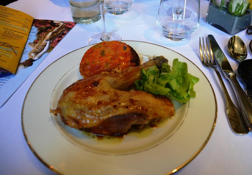 kurczak z Bresse i tarta warzywna