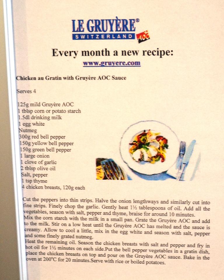 przepis z serem gruyere
